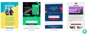 SendX Landing page templates
