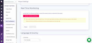 Brandmentions real time monitoring