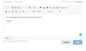 Rebump email editor