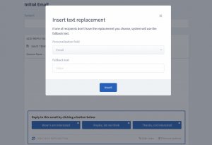 ReplyButton personalization