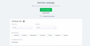 ReplyButton email scheduling