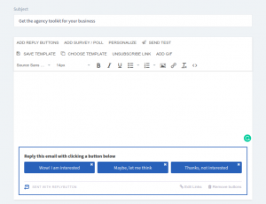 ReplyButton email editor