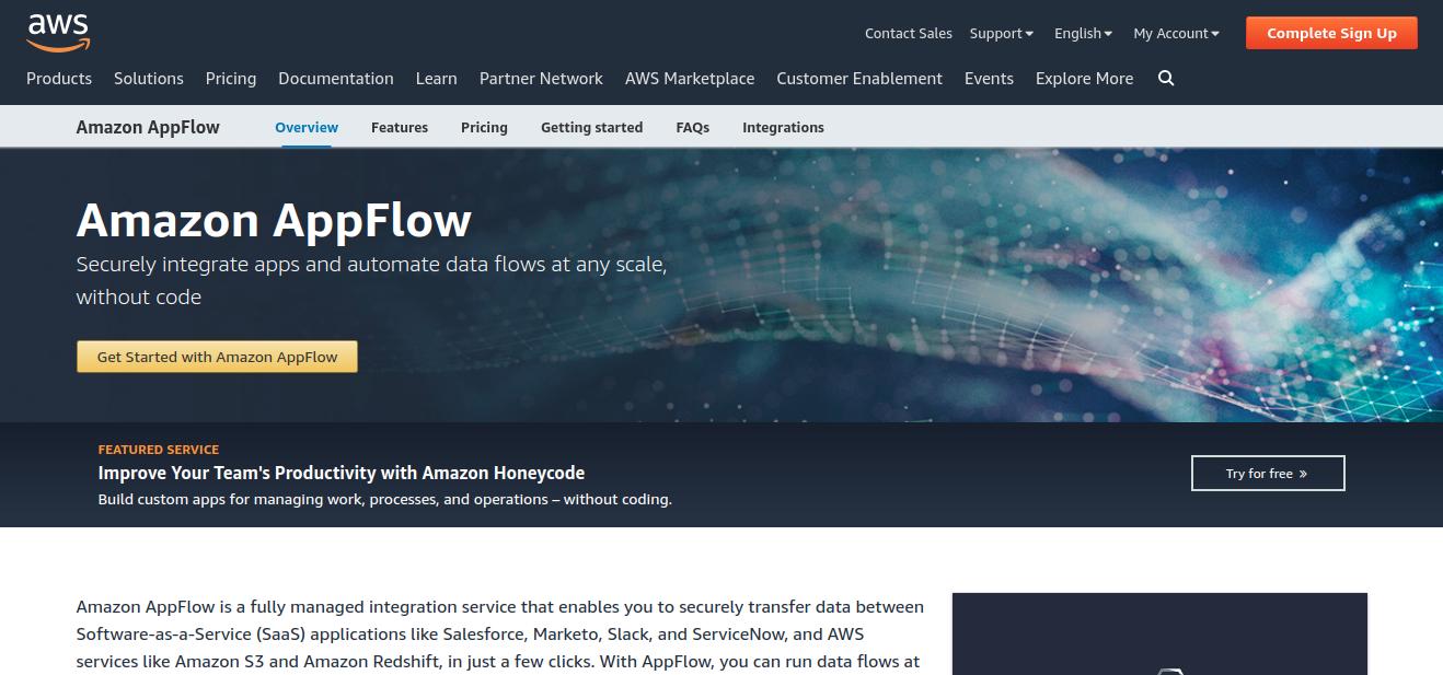 Zapier Alternative - Amazon AppFlow