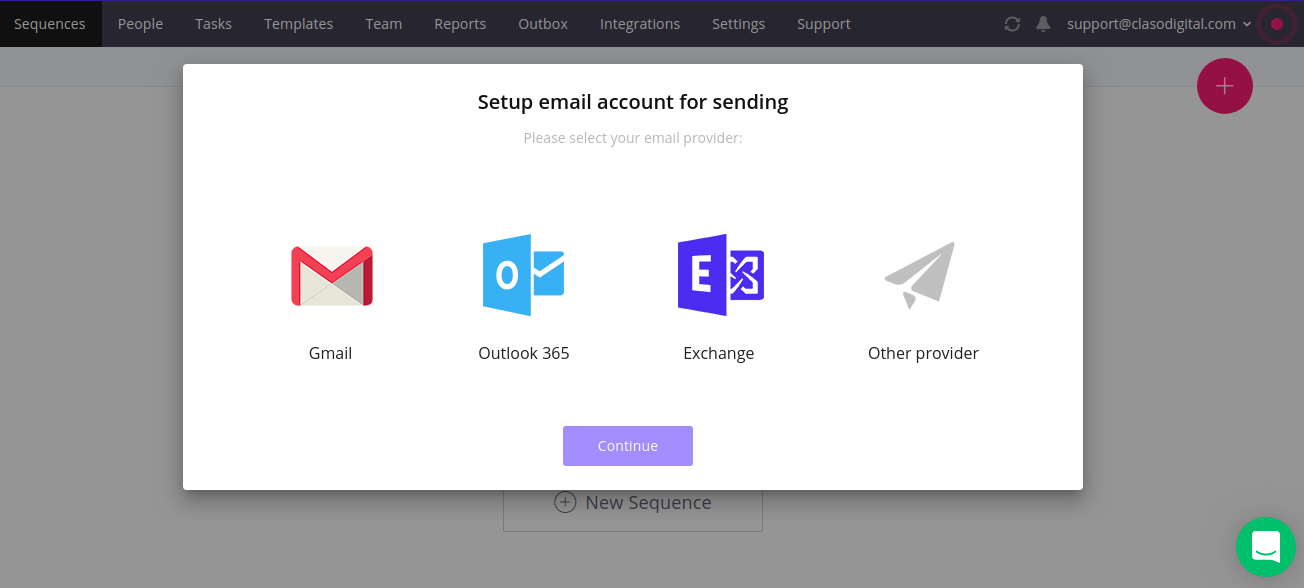 Reply email connection