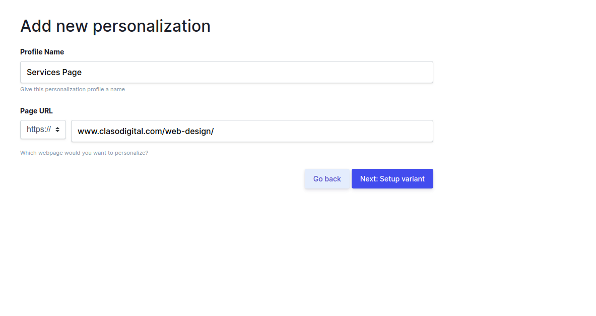 Howuku Website Personalization