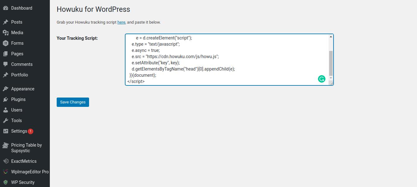 Howuku wordpress plugin