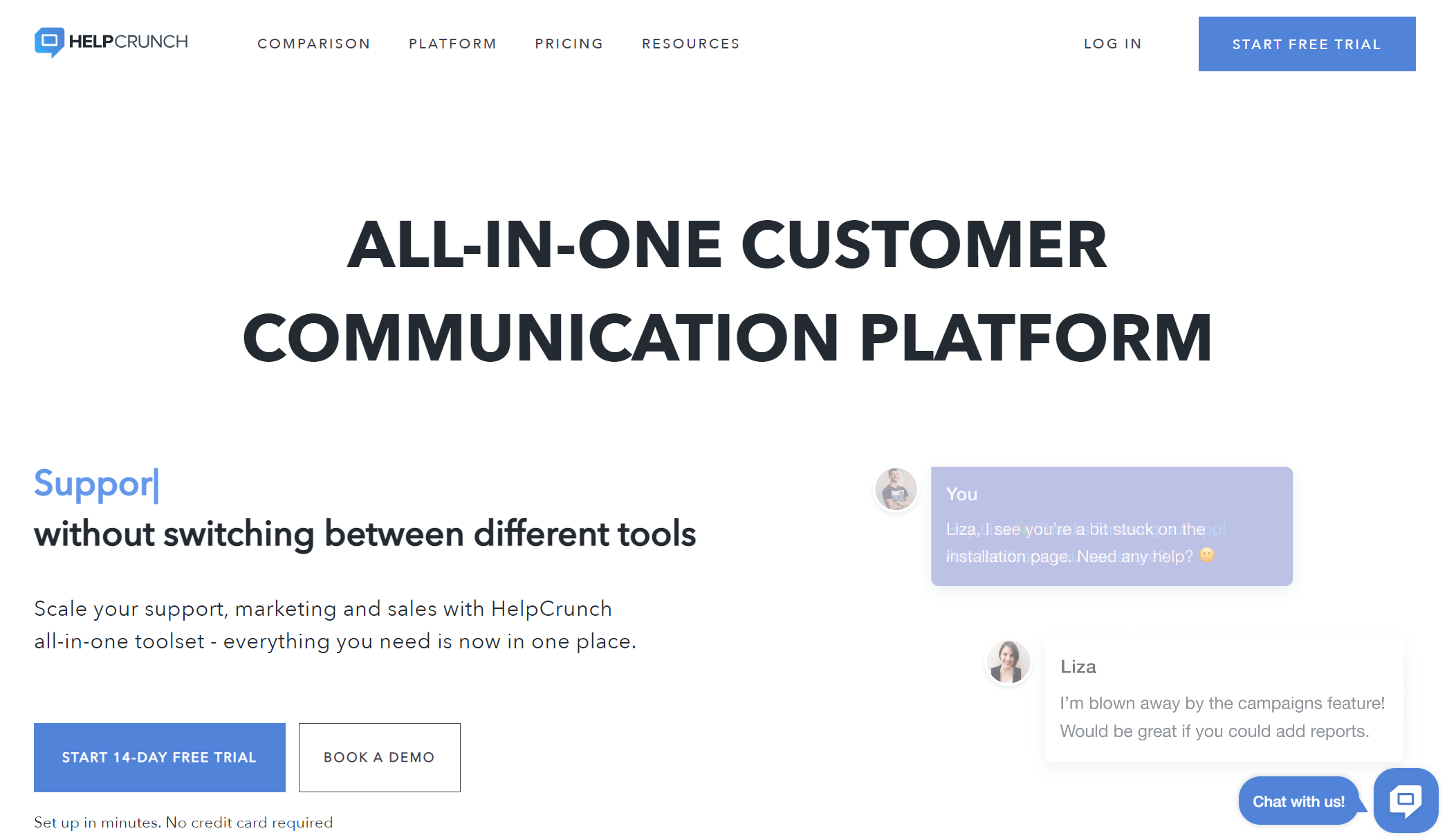 Intercom Alternative - HelpCrunch