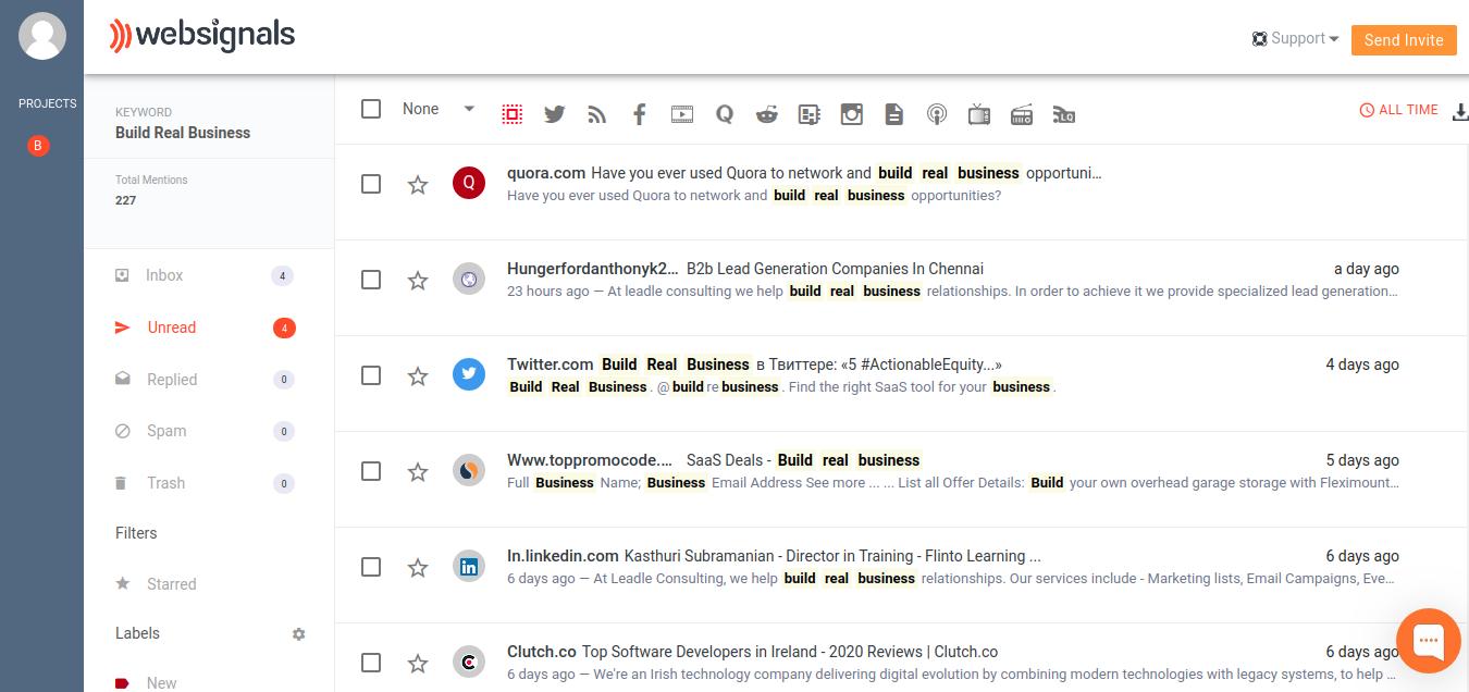 WebSignals Dashboard
