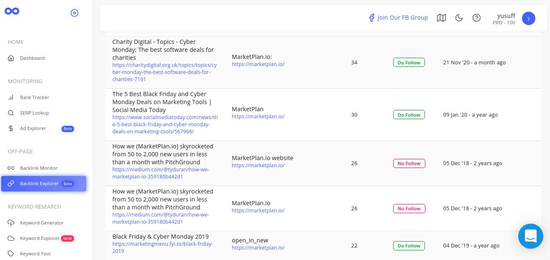 Brand Overflow Backlink Explorer