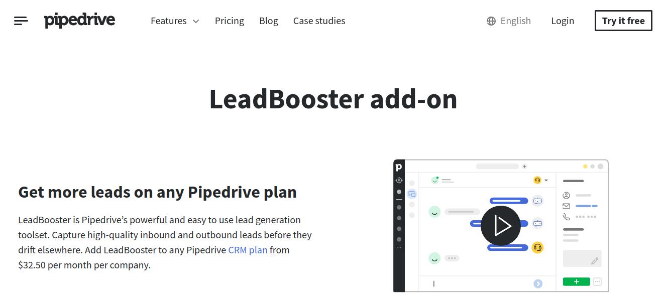 ZoomInfo Alternative - Pipedrive LeadBooster