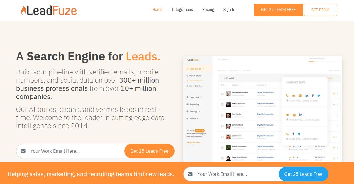ZoomInfo Alternative - LeadFuze