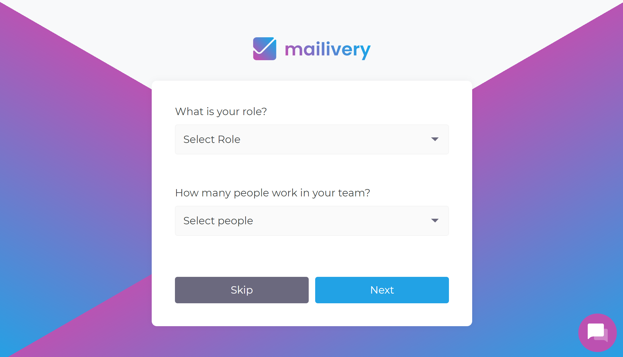 Mailivery Onboarding