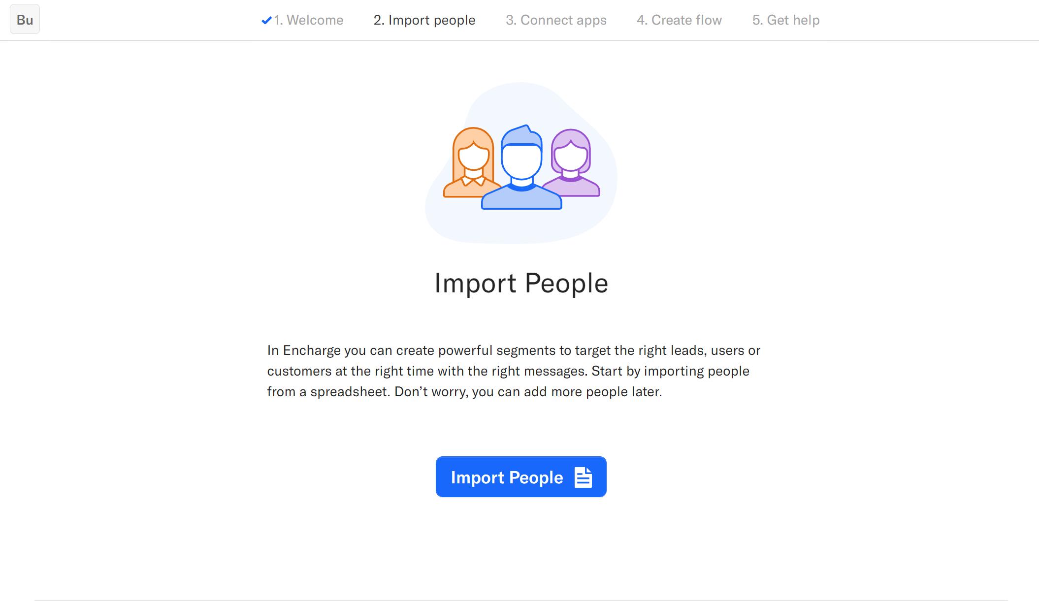 Encharge.io - People Import