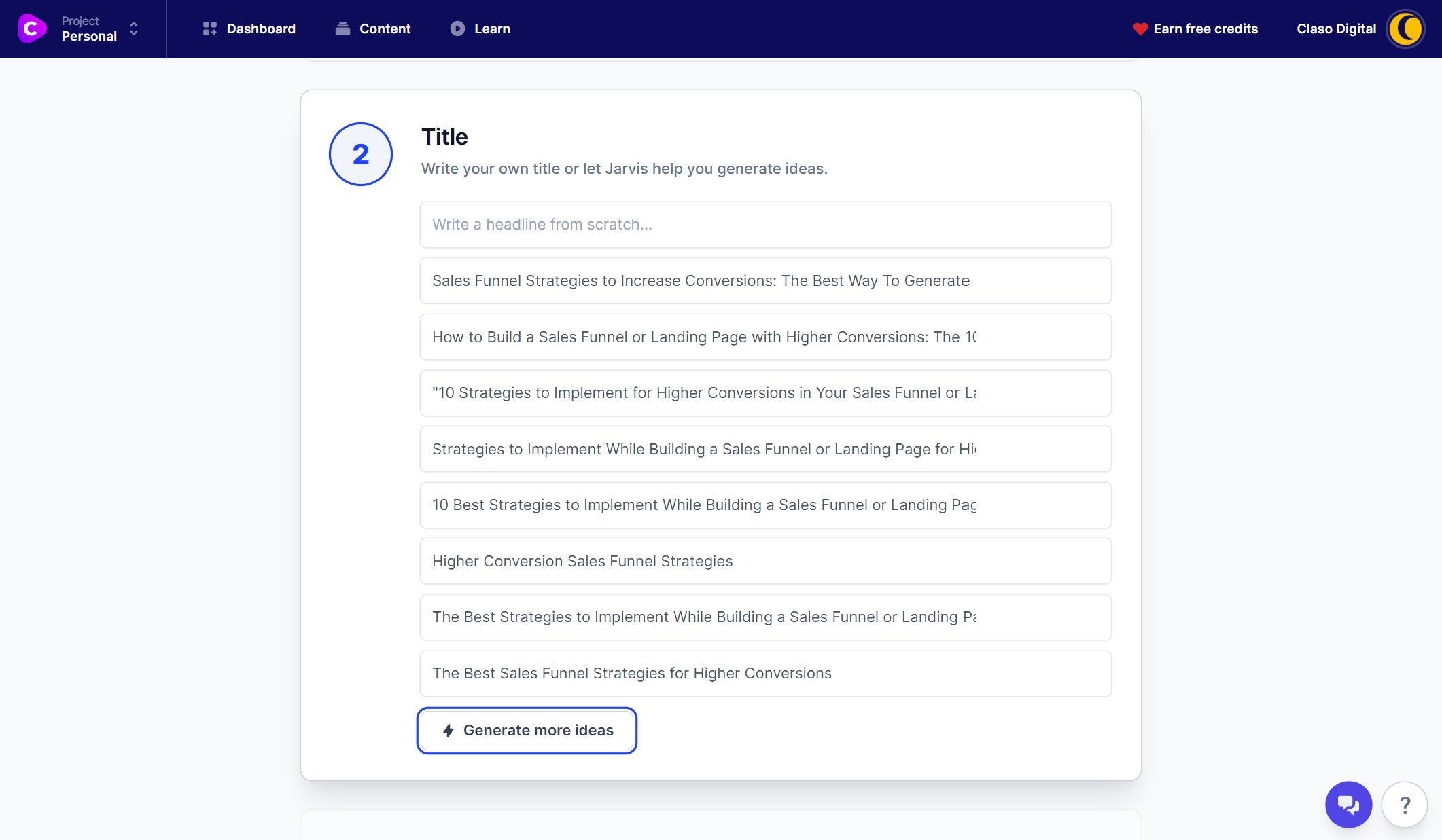Conversion.ai - Blog post title options