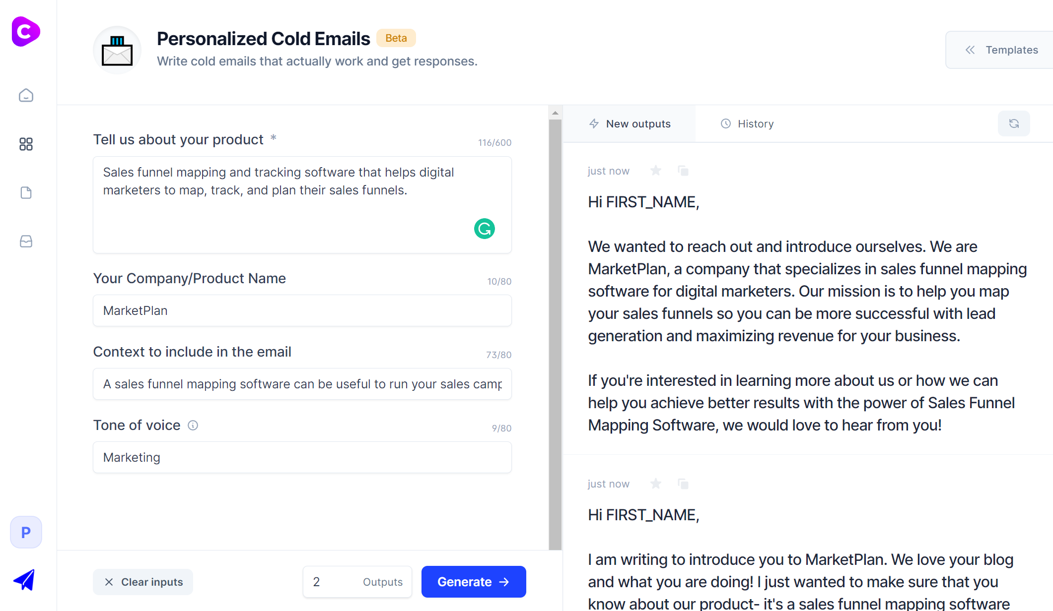 Jarvis.ai - Personalized cold email template