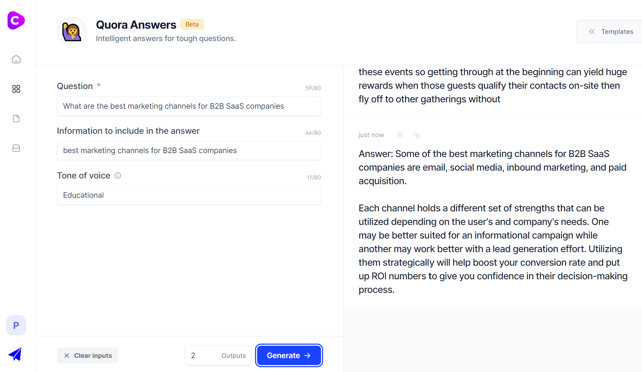 Jarvis.ai - Quora answer template
