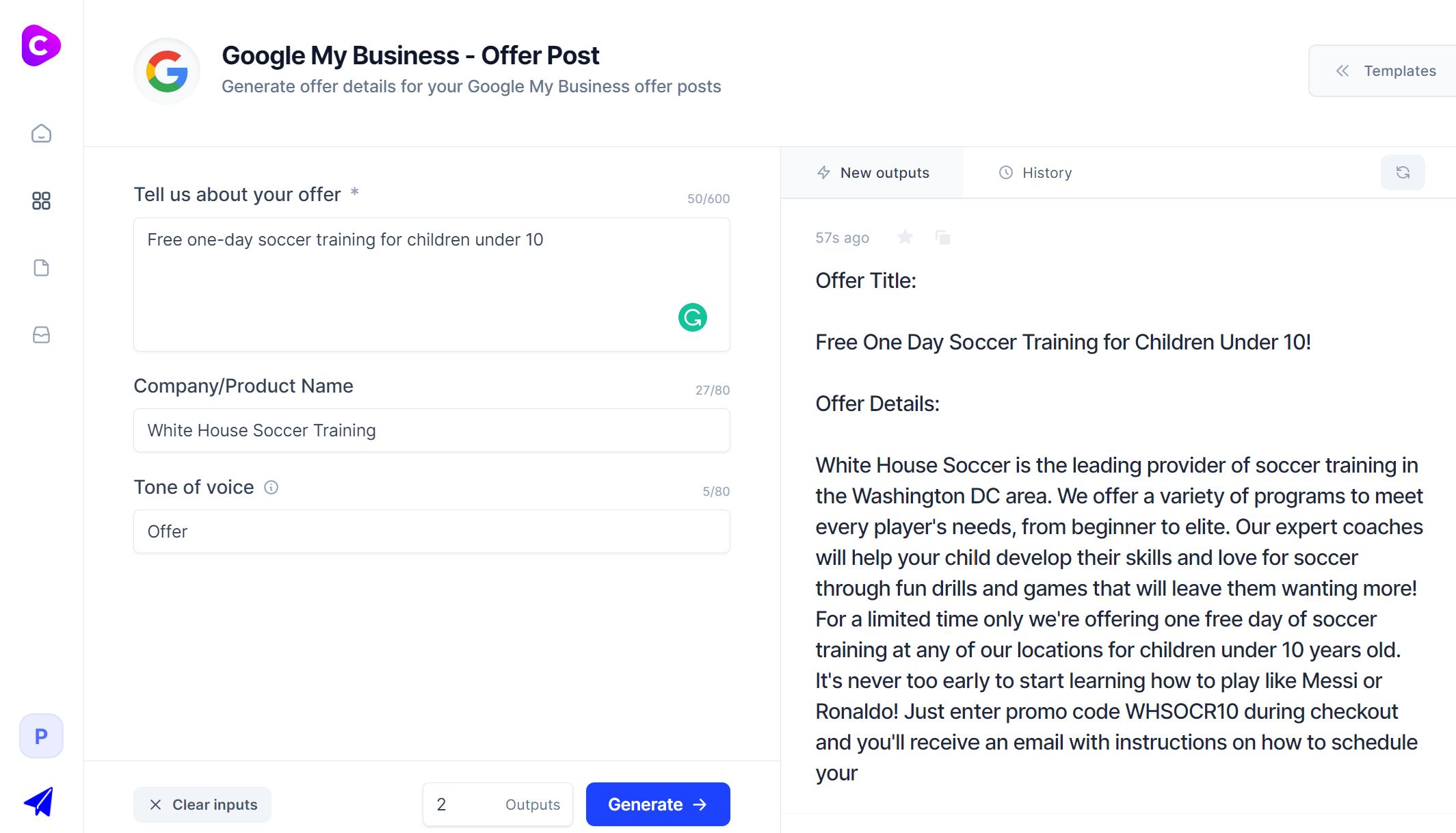 Jarvis.ai - Google My Business Offer Post Template