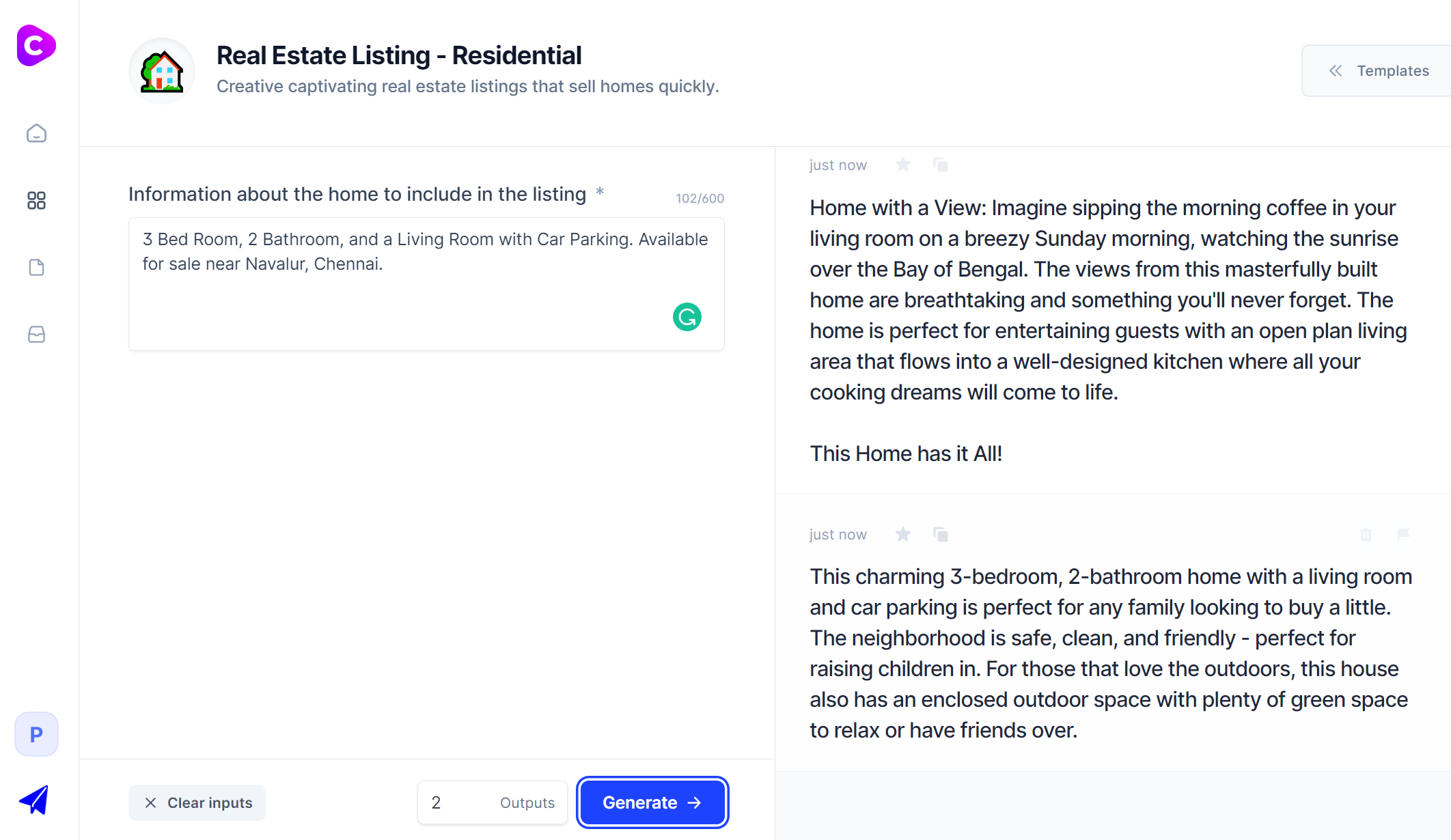 Jarvis.ai - Real Estate Listing Template