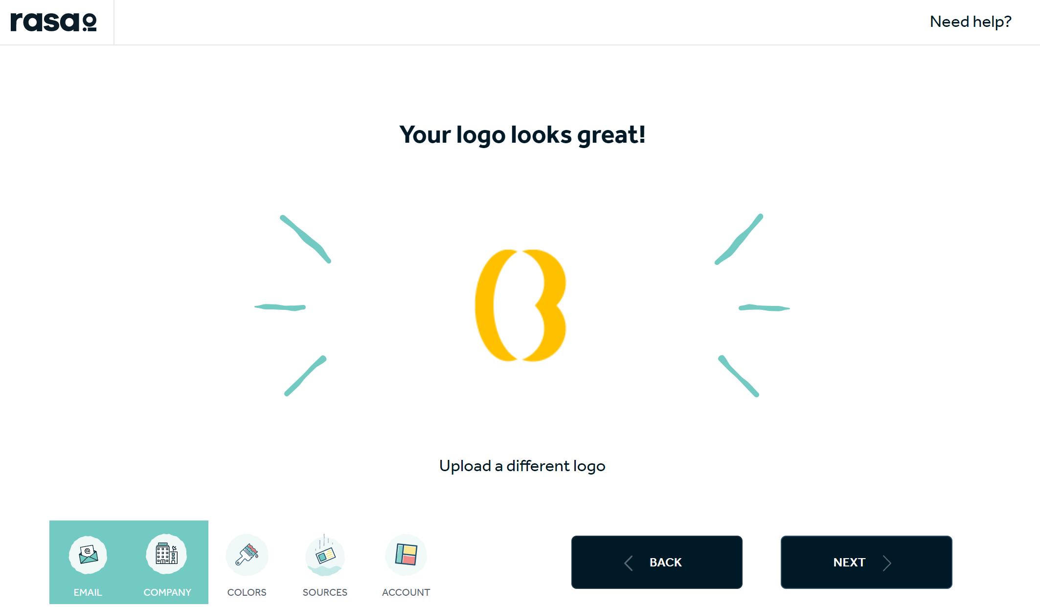 Rasa.io - Logo Extract