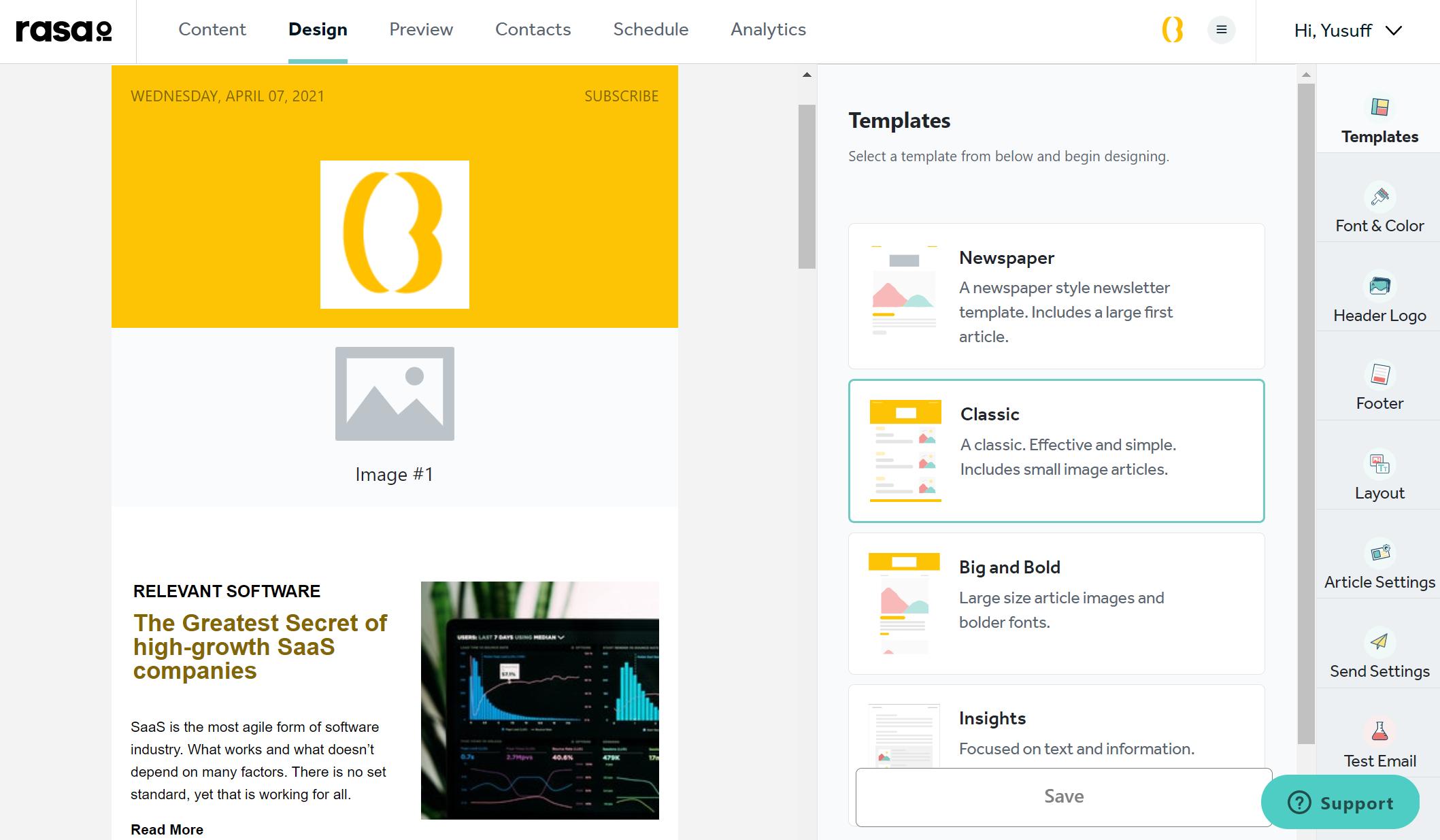 Rasa.io - Newsletter Design