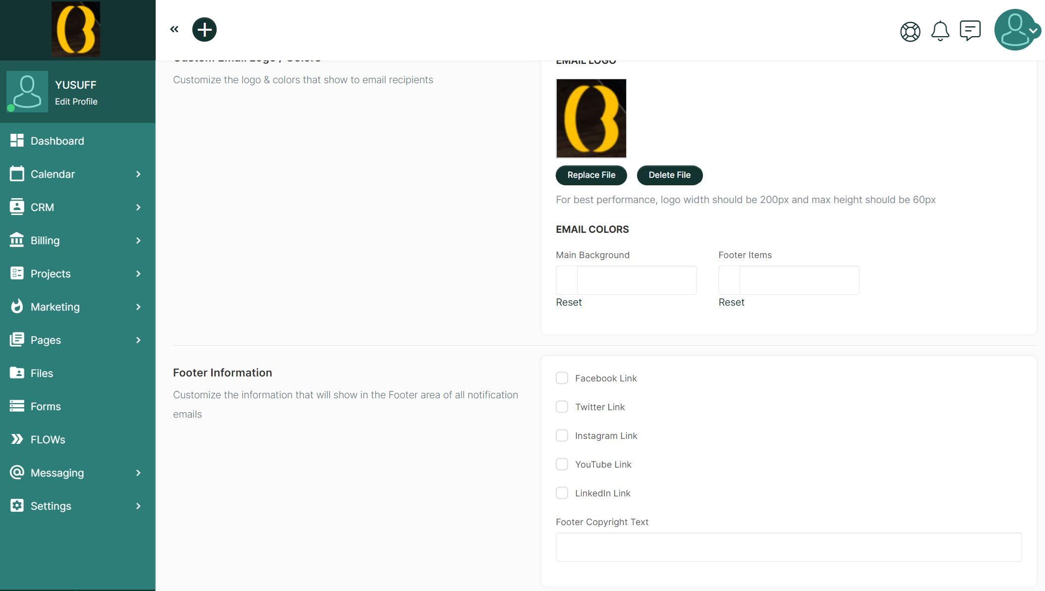 SuiteDash - Email Branding & Customization
