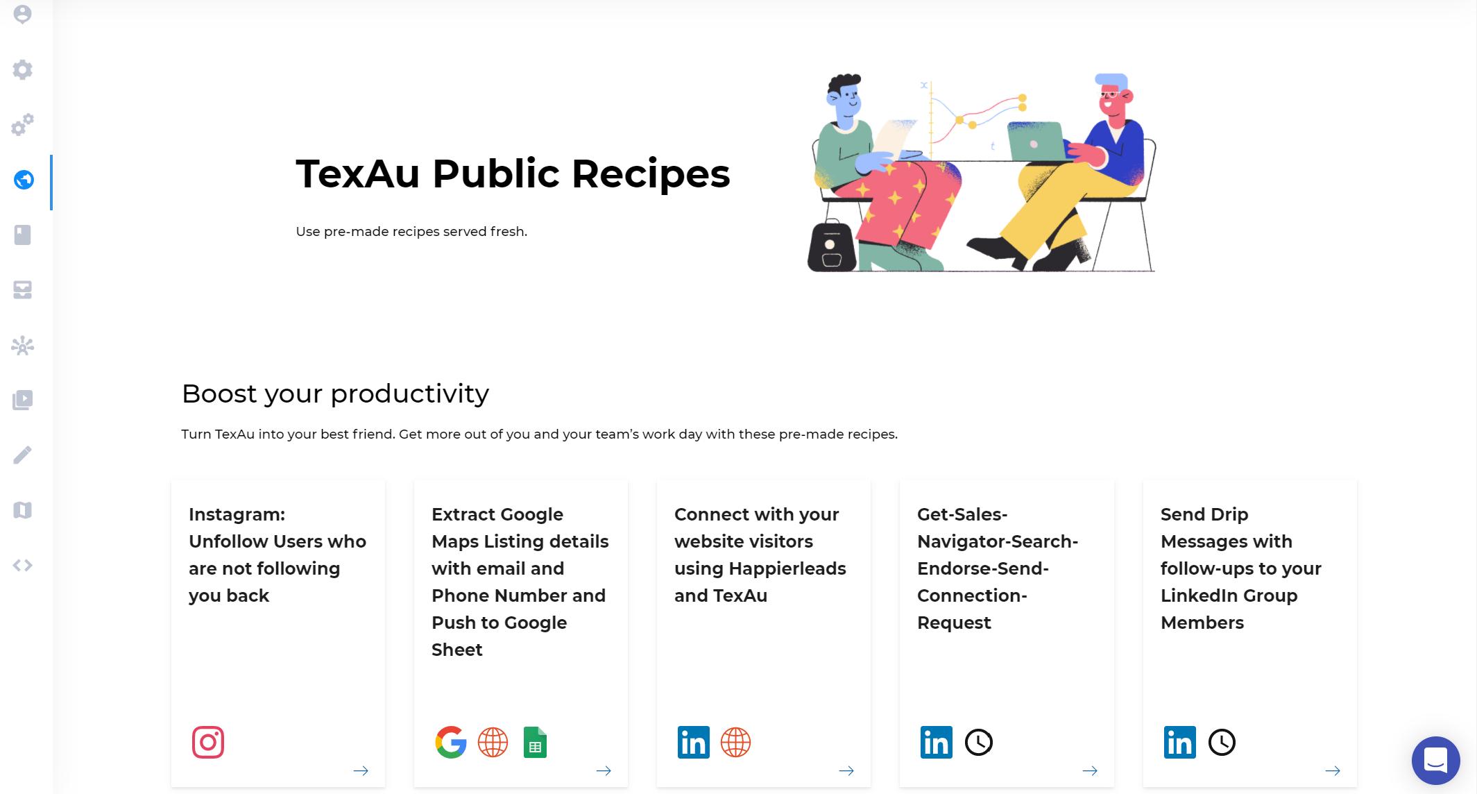 TexAu - List of Public Recipes