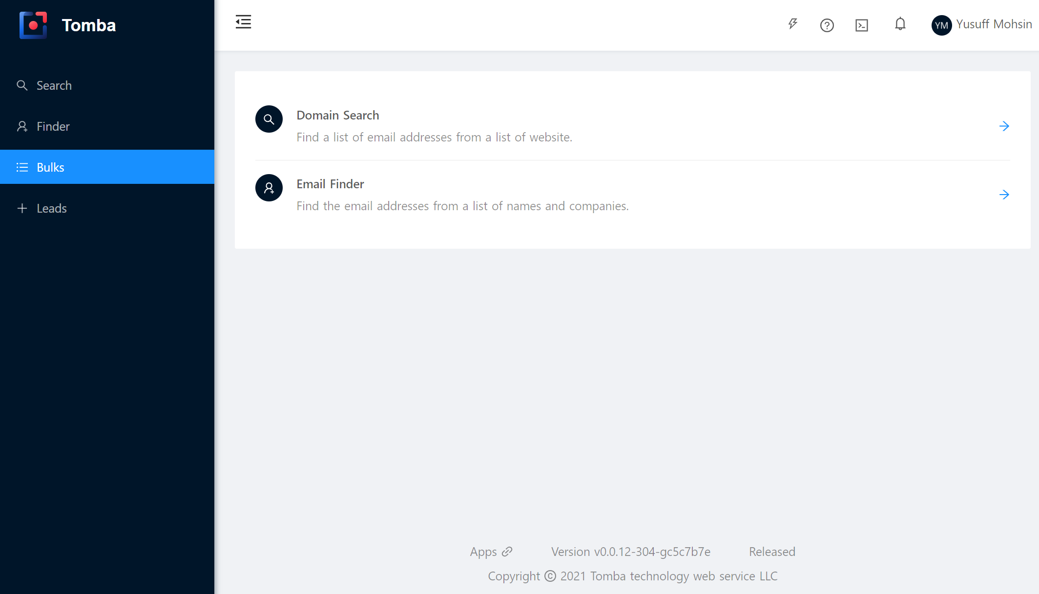 Tomba.io - Bulk Email Search