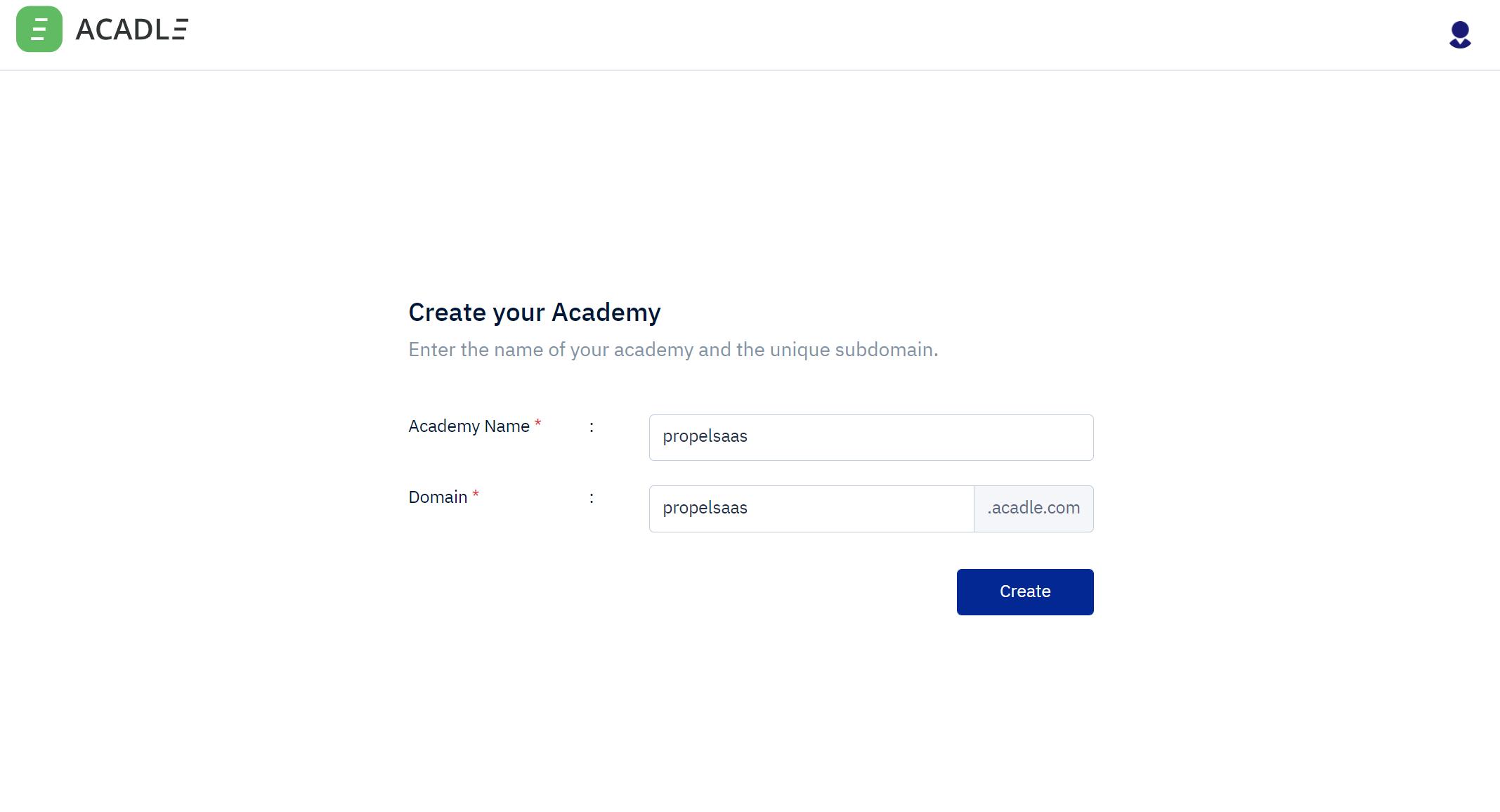 Acadle - Academy setup