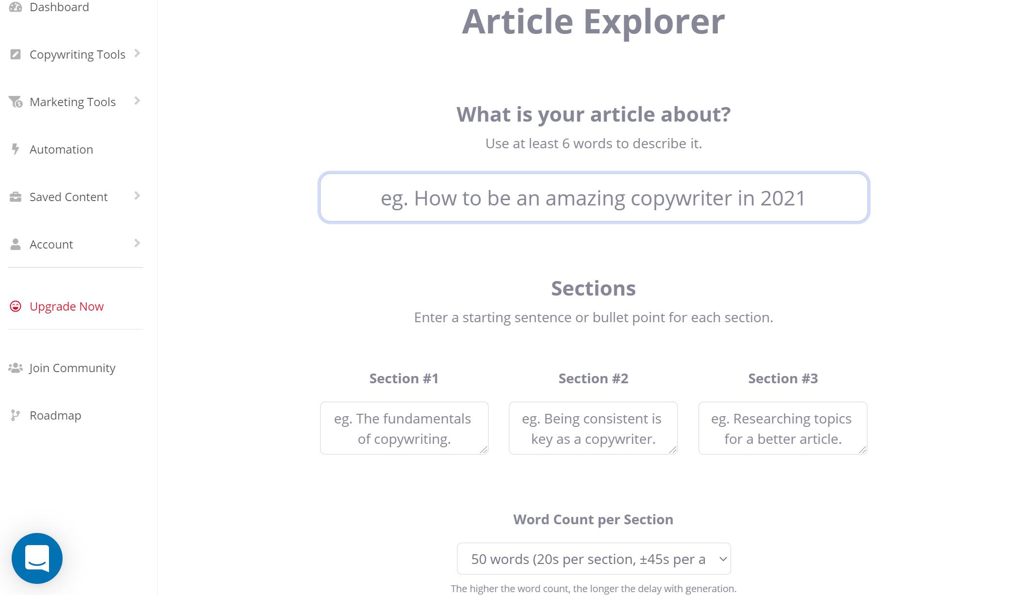 ContentBot - Full length blog post