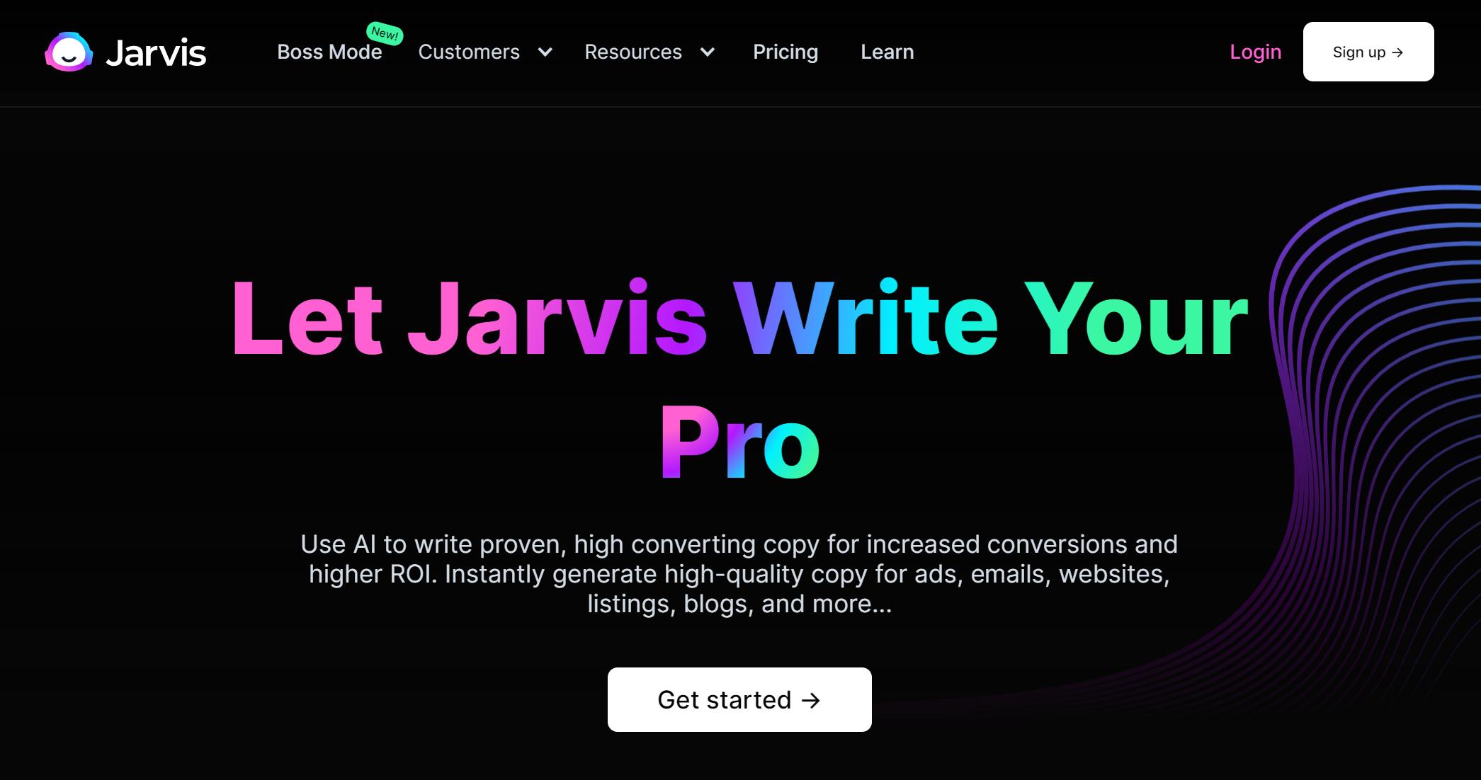 Best AI Copywriting Tools - Jarvis