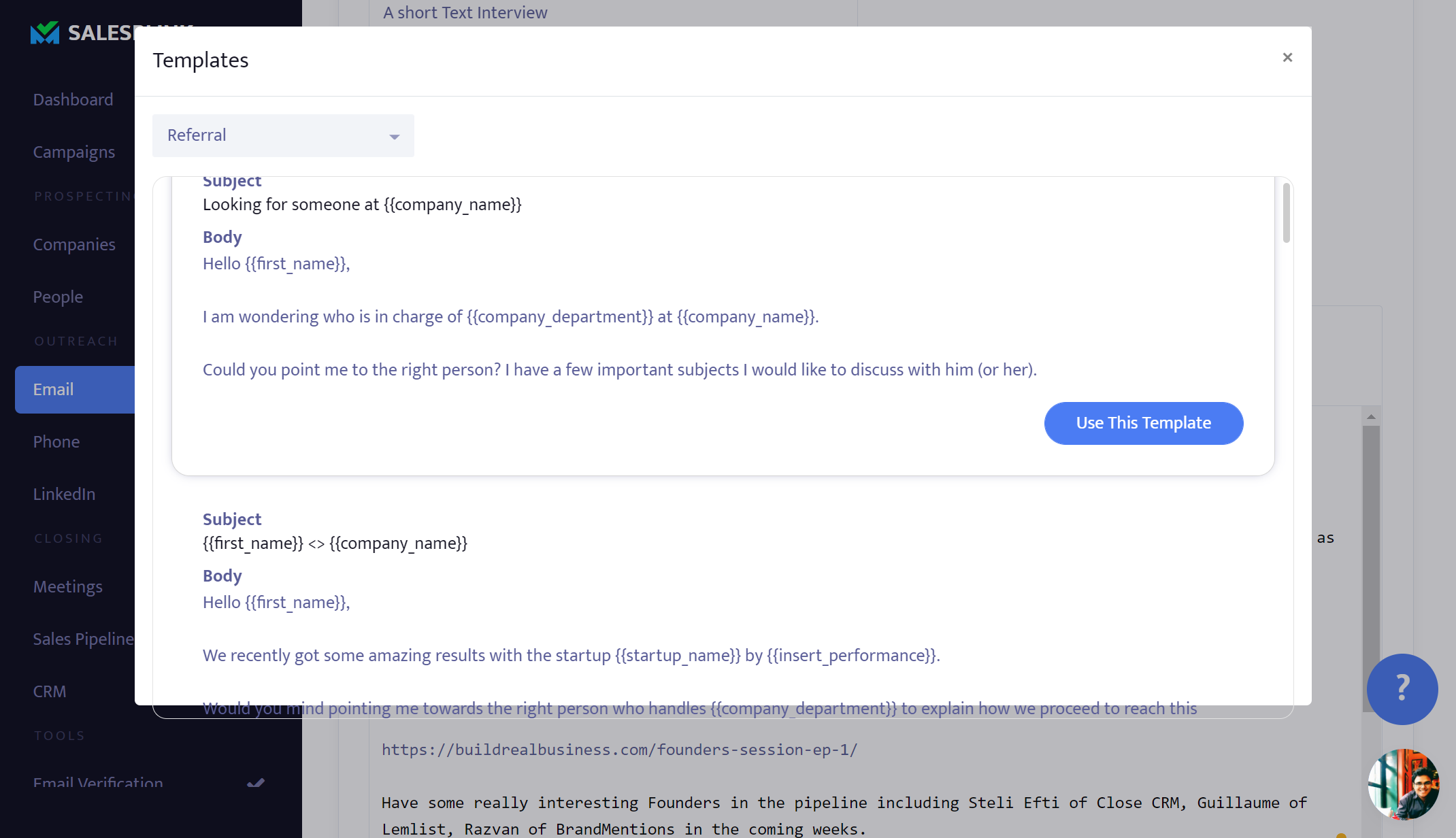 SalesBlink - Email Templates