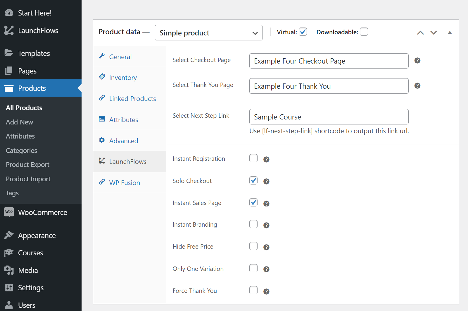 LaunchFlows - WooCommerce Product