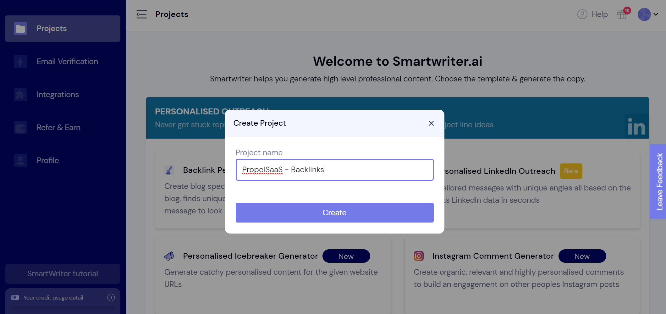 SmartWriter - Projects