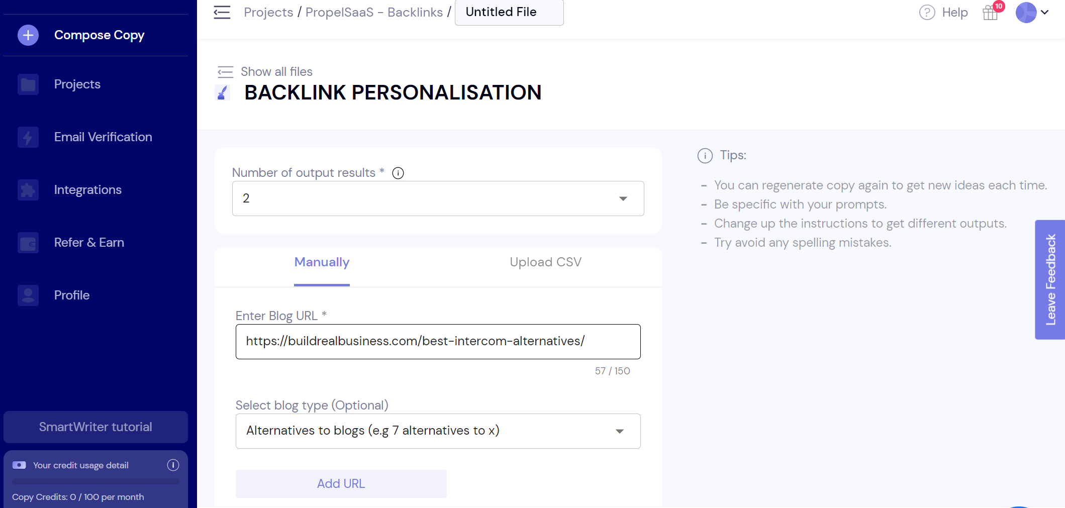 SmartWriter - Backlink Outreach