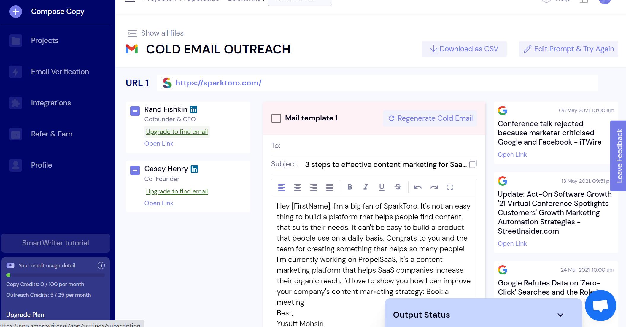 SmartWriter - Cold Email Copy